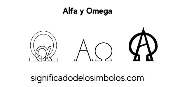 Alfa y omega símbolos religiosos