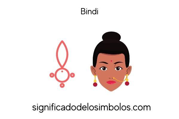 símbolos hindúes bindi