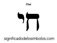 Chai símbolos judíos