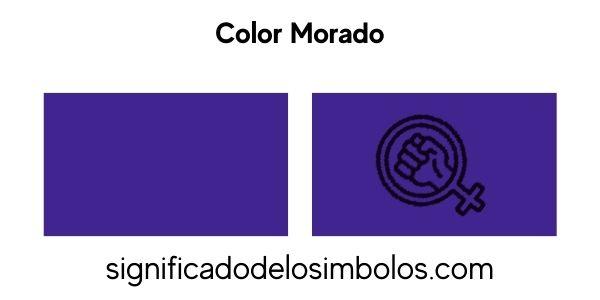 Color morado símbolo feminismo