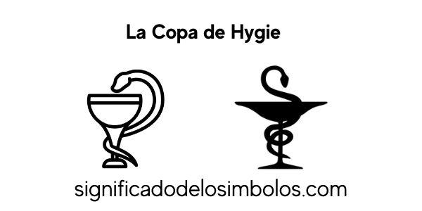 Copa de Hygie símbolos griegos