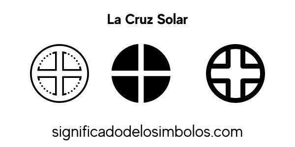 Cruz solar símbolos griegos