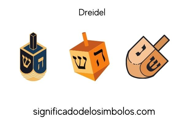 símbolos judíos dreidel