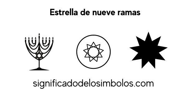 estrella nueve ramas símbolos religiosos