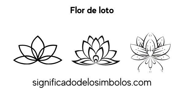 Flor de loto símbolos religiosos