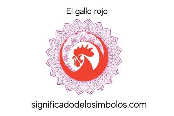 símbolos hindúes gallo rojo
