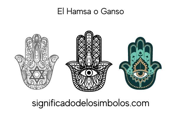 símbolos hindúes hamsa