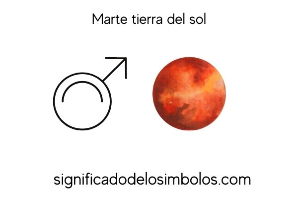 simbolos planetarios marte