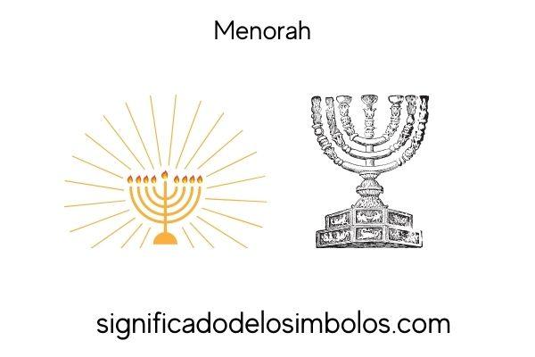 símbolos judíos menorah