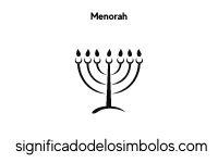 menorah símbolos judíos