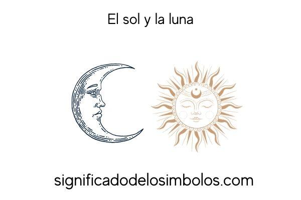 simbolos planetarios sol y luna
