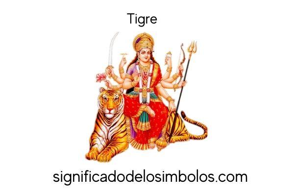 símbolos hindúes tigre