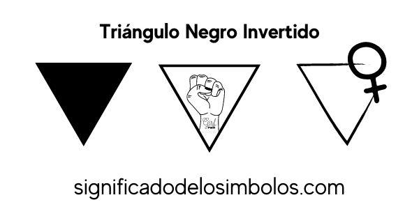 Triangulo negro invertido símbolo feminismo