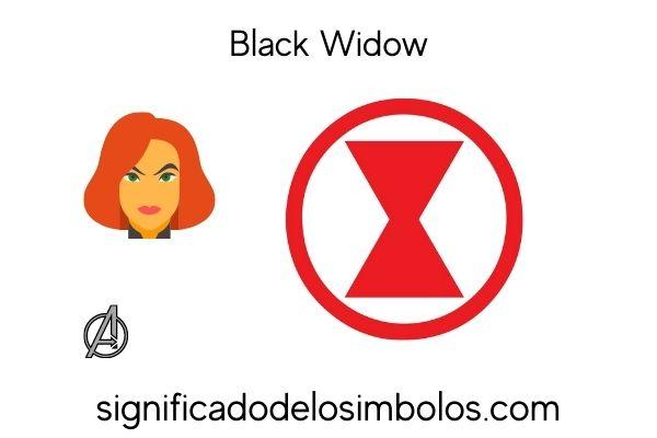 Black Widow símbolos de marvel y su significado