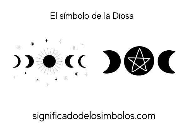 Simbolo de la diosa símbolos de brujería